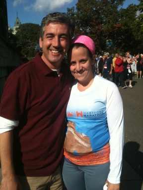 From the finish line of #8. I always wear a bright headband so people can spot me.